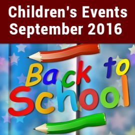Peoples Library Children's Events – September 2016