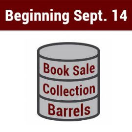 Book Sale Collection Barrels