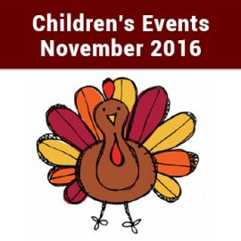 Peoples Library Children's Events – November 2016