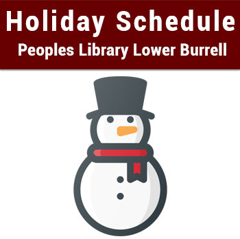 Holiday Season Schedule – Peoples Library Lower Burrell