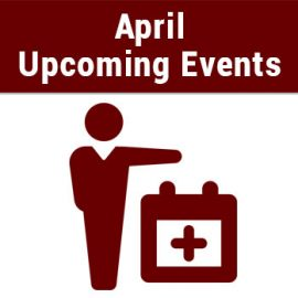 Upcoming Events – April