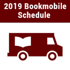 2019 Bookmobile Schedule